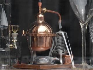 An alcohol distillatore - marketing distillation and activation concept