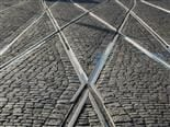 train tracks criss crossing