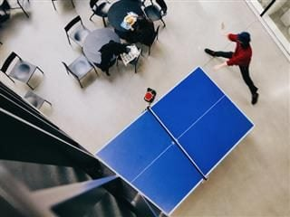 ping pong table as viewed from above
