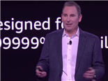 AWS CEO Andy Jassy on stage at AWS re:Invent 2018