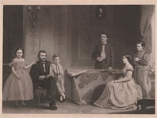 Ulysses S. Grant and Family portrait