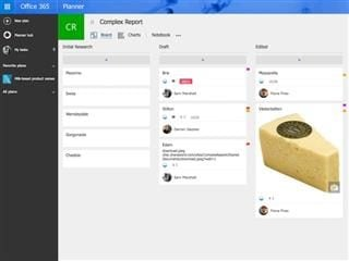 task management for a cheesy project in Office 365 Planner