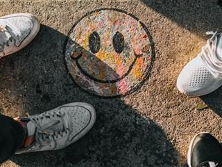 chalk smiley face