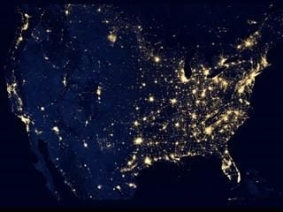 US Map from space