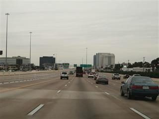 Traffic on Interstate 10 in Houston approaching Katy, Texas.