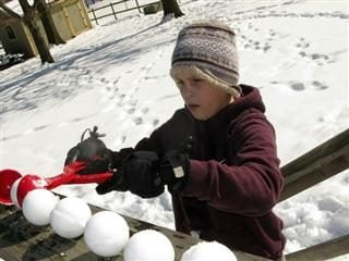 making snowballs