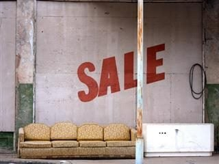 sad sale sign