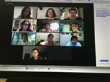 Screenshot of a virtual meeting on a video collaboration platform.