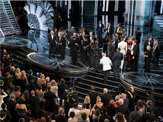 MOONLIGHT CAST AND CREW, LA LA LAND CAST AND CREW at the The 89th Oscars(r) broadcasts