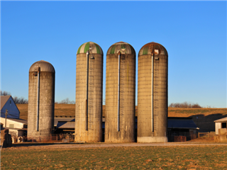 A farm with a few silos - data silo concept