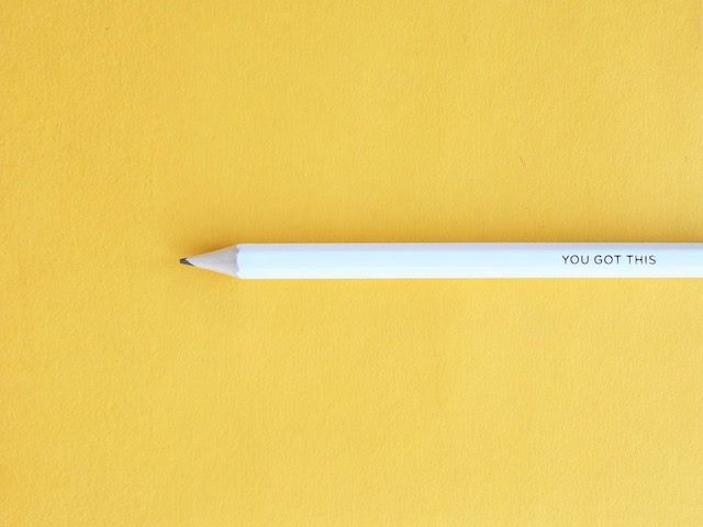 "white pencil with the words ""You Got This"" against a yellow background"