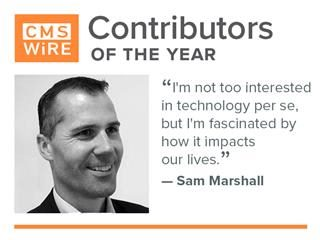 "2018 Contributor Sam Marshall ""I'm not too interested in technology per se, but I'm fascinated by how it impacts our lives."""