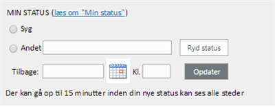 The status indicator in FOA Net