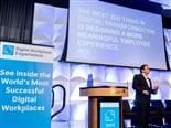 Brian Solis on stage during his keynote at the June 2018 Digital Workplace Experience conference at the Radisson Blu Aqua Hotel in Chicago.
