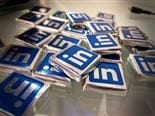 Chocolates with wrappers that have the LinkedIn logo.