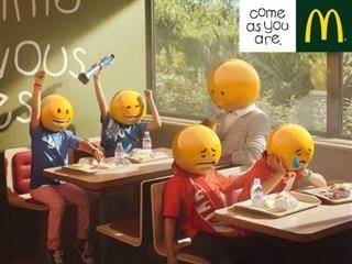 emoji ad for McDonalds