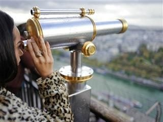 viewing Paris from above