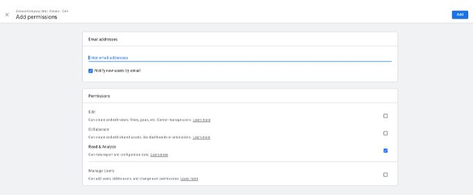 google analytics access management