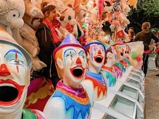 clown game at the carnival