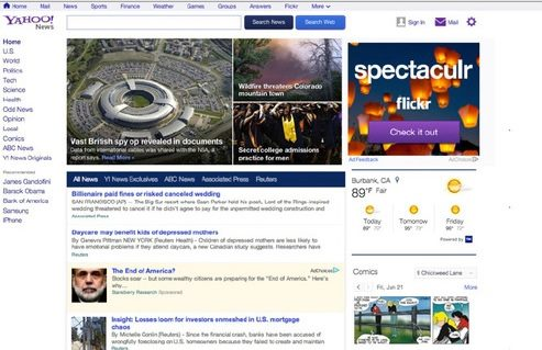 Yahoo News Redesign