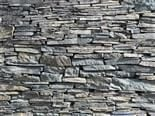 detail of slate wall at Opus 40