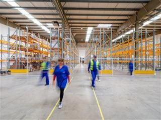 warehouse workers on the floor