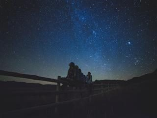 Group of people looking at stars