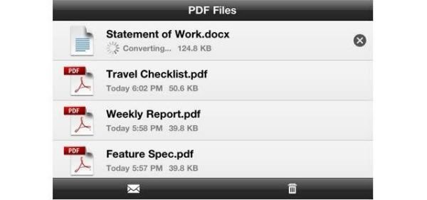 Adobe CreatePDF converts PDF files via the cloud, to save system resources