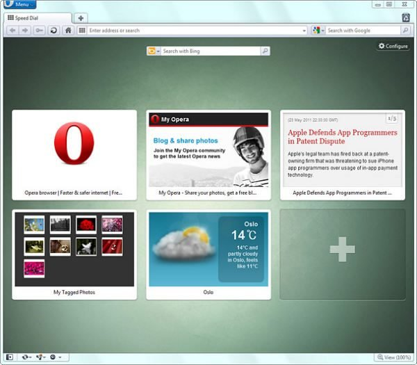 Opera 11.50 Speed Dial Extensions