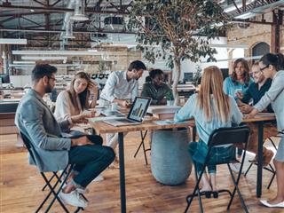 A marketing team working on a recent marketing campaign - Digital Marketing