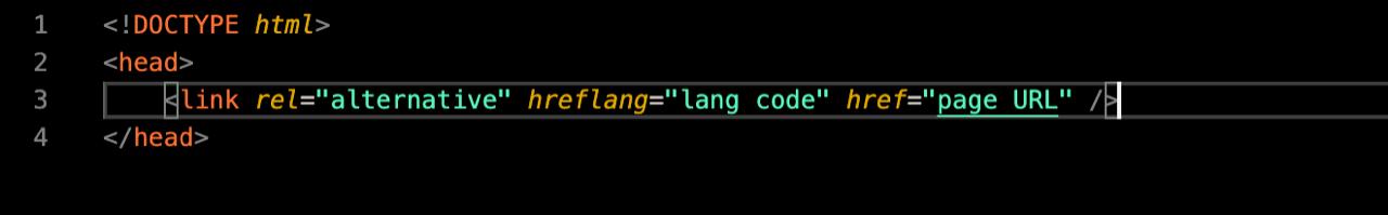 hreflang example html