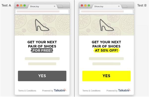 Talkable helps optimize conversion through A/B testing