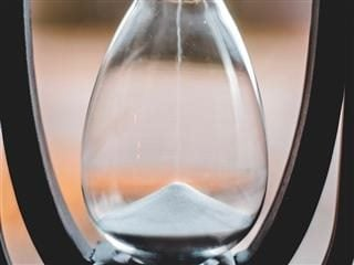sand going through an hourglass