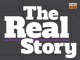The Real Story logo