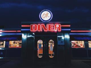 ok diner at night