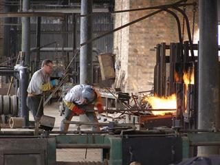 smelters at work