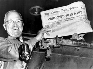 newspaper claiming windows 10 is a hit
