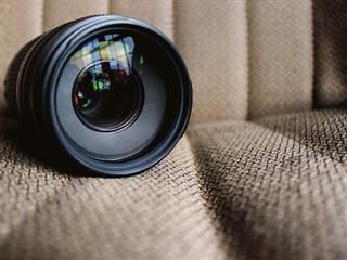 close up of zoom lens