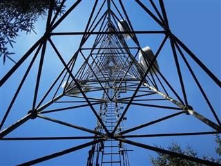 cell tower from underneath